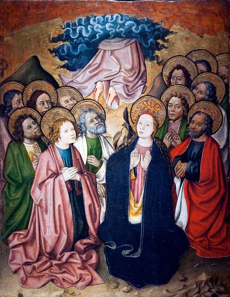 The Ascension of the Virgin (1445), by Bernardo Martorell, Fine Arts Museum, Seville, Spain