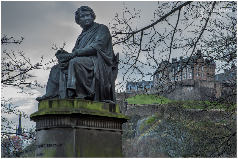 James Young Simpson statue, West Princes Street Gardens