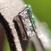 Art Deco Diamond and Emerald Disc Earrings 6