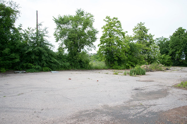 06/24/19 Wesley Bunnell | Staff The vacant lot at 889 Farmington Ave which is proposed to be used as transit oriented development around the Berlin Train Station. The top of the station can be seen in the distance between the two trees in the middle.