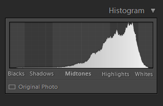 Histogram in Photography - Overexposed Capture