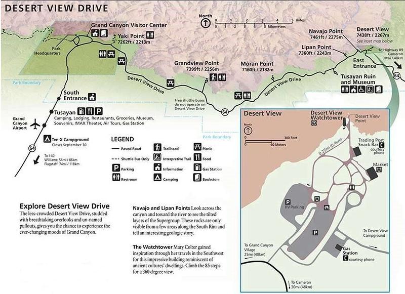 Grand Canyon National Park (Desert View Drive)