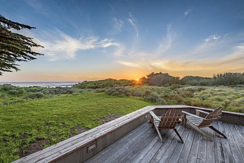 Sunset Back Deck
