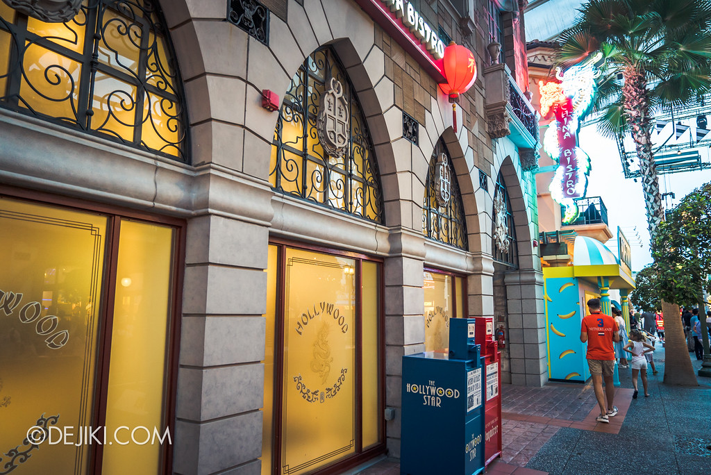 Universal Studios Singapore Park Update August 2017 - Hollywood China Bistro closed for removal