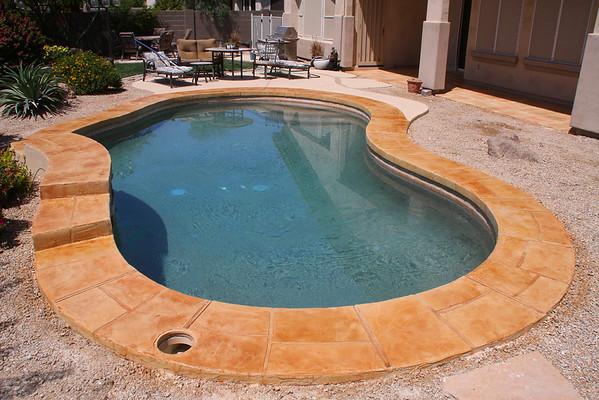 Peoria, Stone around pool, patios and lace 04-10