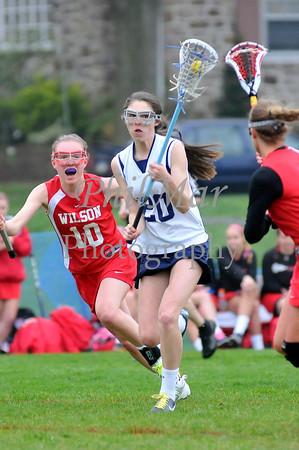 Wilson vs Wyomissing Girls High School Lacrosse 2012 - 2013