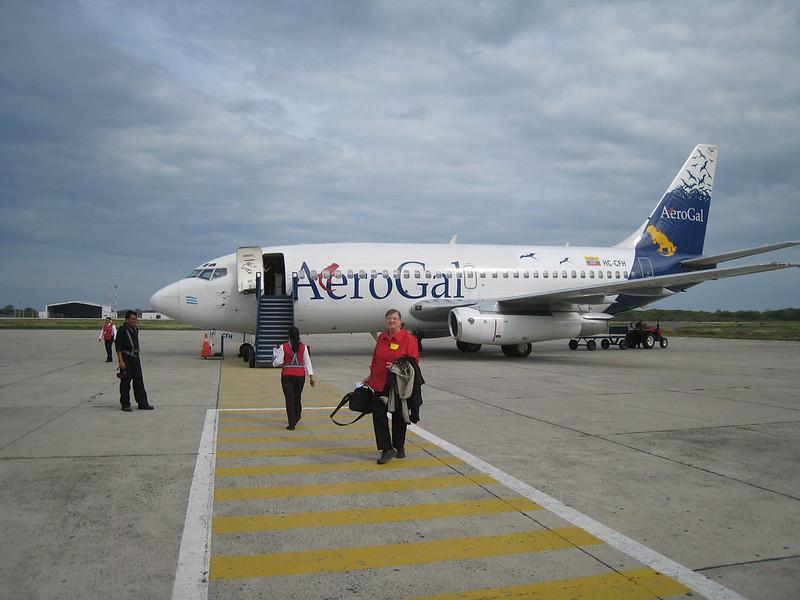 In Manta, Ecuador, we get on a plane bound for Quito