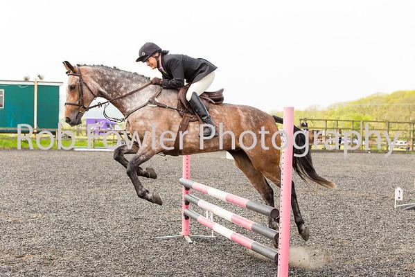 Julie Slater riding Frank