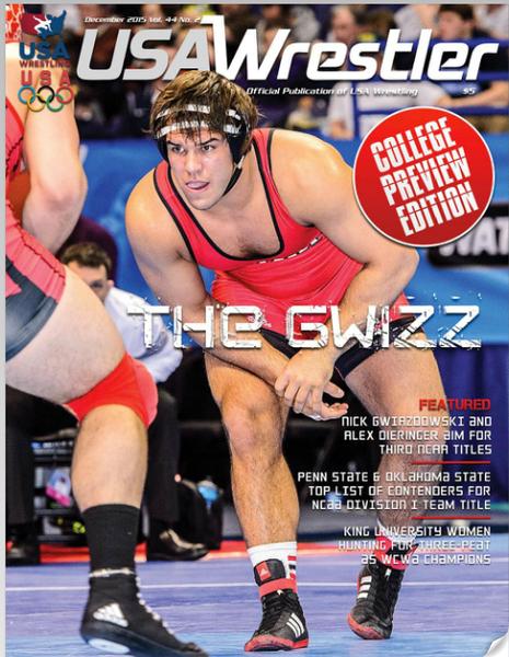 USA Wrestler Cover, Dec, 2015