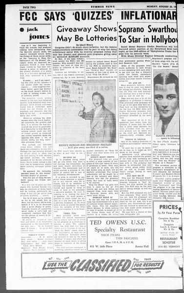 Summer News, Vol. 3, No. 24, August 23, 1948