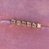 .78-.82ctw Asscher Stud Earrings, in Yellow Gold 16