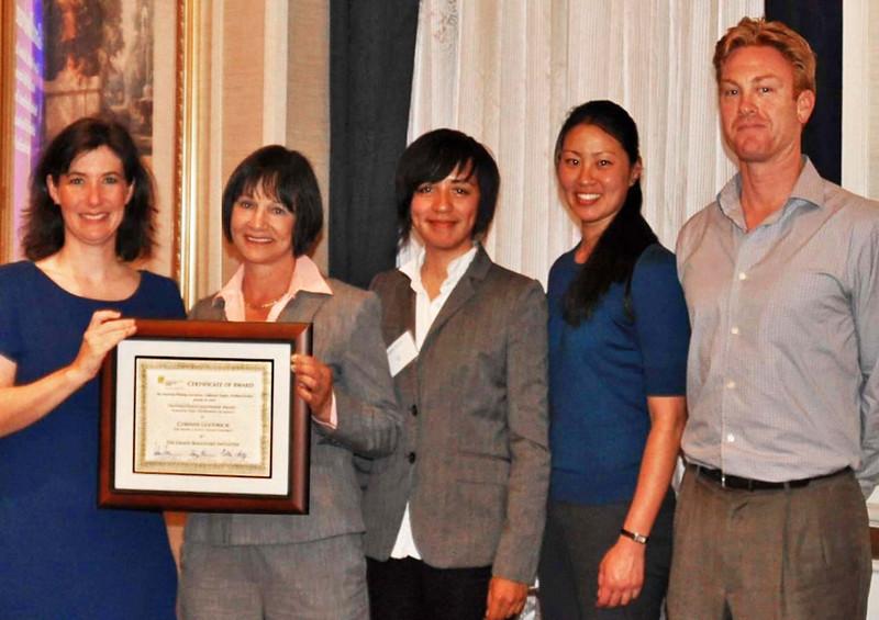 10-Distinguished Leadership Award - Planning Organization: Grand Boulevard. Darcy Kremin, AICP (Northern Section Director), Corinne Goodrich (San Mateo County Transit District), Ronny Kraft and Iris Yuan (HNTB), Tom Madalena (San Mateo City/County Association of Governments)