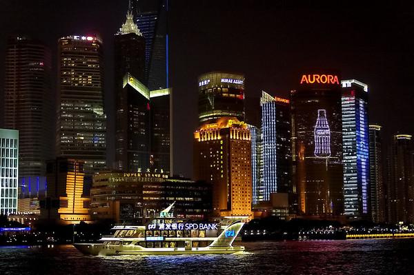 Shanghai la nuit - vues sur Pudong
