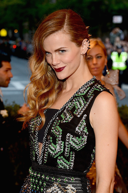 """. Brooklyn Decker attends the Costume Institute Gala for the \""""PUNK: Chaos to Couture\"""" exhibition at the Metropolitan Museum of Art on May 6, 2013 in New York City.  (Photo by Larry Busacca/Getty Images)"""