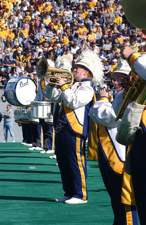 21828 WVU vs. Rutgers Football Game, Alumni Band and Football Action