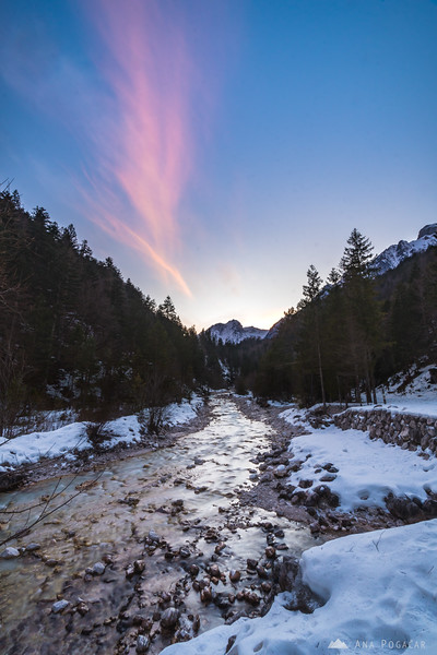 Vrata valley at sunset - Jan 27, 2018