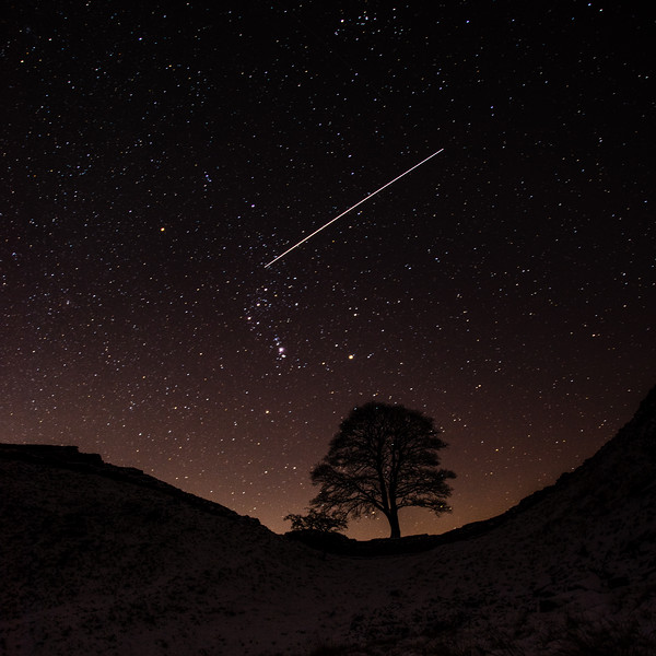 International Space Station over Hadrian's Wall