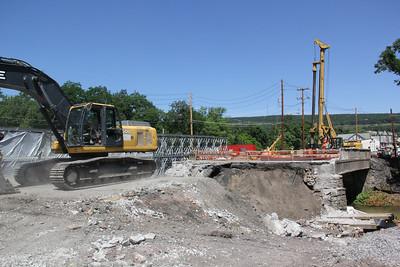 SR309 Bridge Coming Down, Tamaqua (6-27-2012)