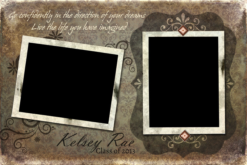 Shabby Chic - Half Page Template