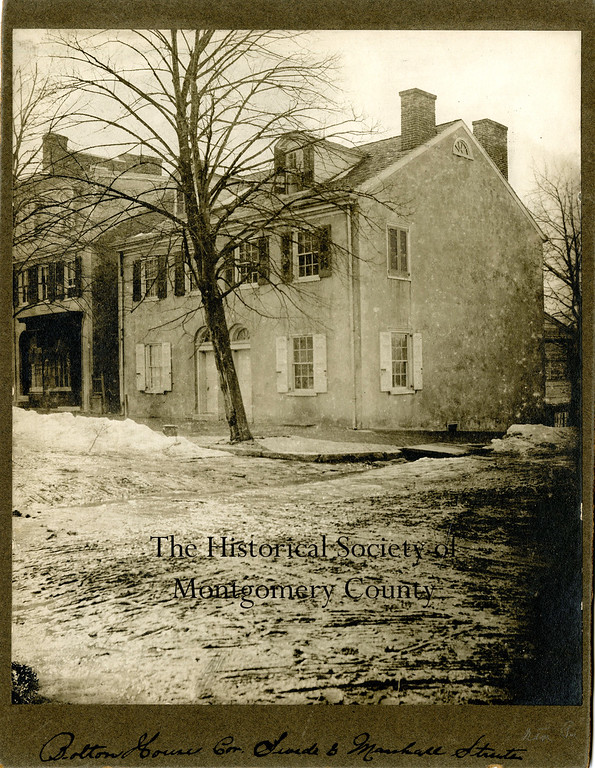 . This undated photo from the Historical Society of Montgomery County shows the Bolton House which was located at the corner of Swede and Marshall streets in Norristown.