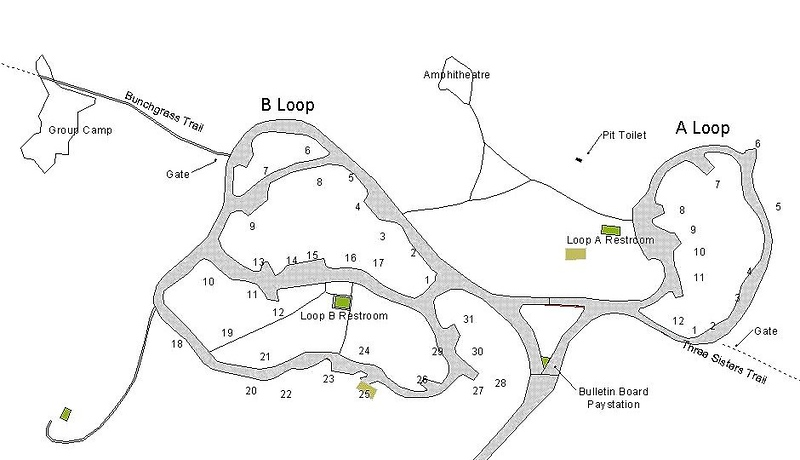 Lava Beds National Monument (Campground Map)