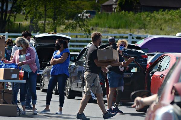 Food Distribution in Hoosick Falls - 082620