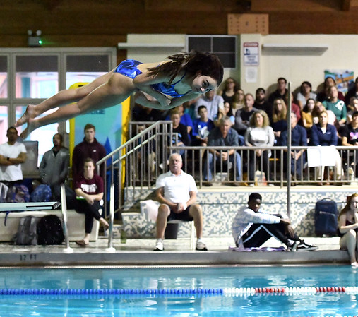 10/29/2019 Mike Orazzi | StaffrBristol Easterns Emily Mulcunryduring diving at Tuesdays girls swim meet with Bristol Central.