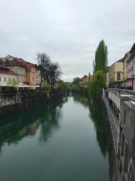 Ljubljana's pretty river
