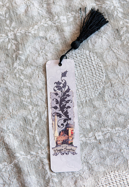 A bookmark featuring the Hagia Sofia, Istanbul.