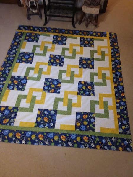 Dorothy Rowe submitted a photo of her completed top.  Come on members, email your photos to John.