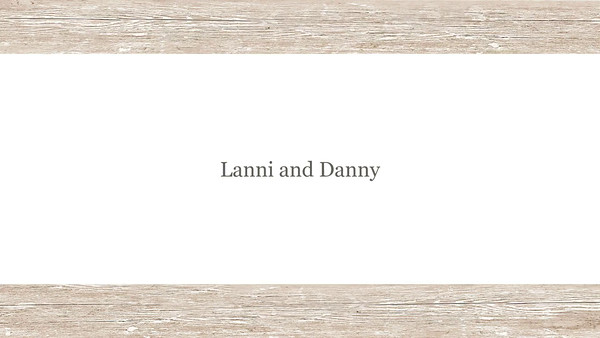 Lanni and Danny Slideshow