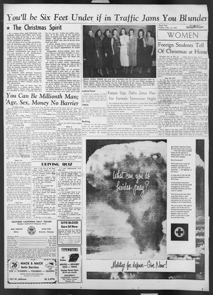 Daily Trojan, Vol. 43, No. 62, December 14, 1951