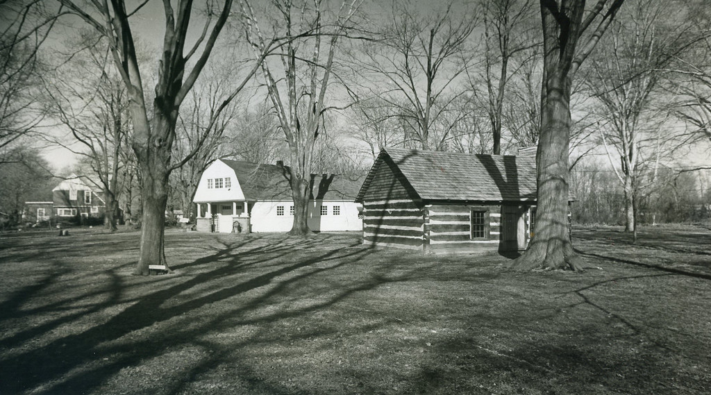 . The Garfield home carriage house and pioneer school, March 1981. (News-Herald file)