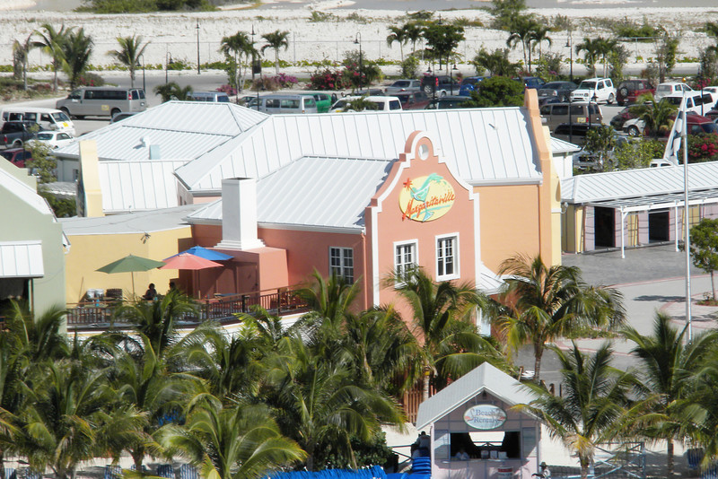 View of Margaritaville from our balcony on the Emerald Princess