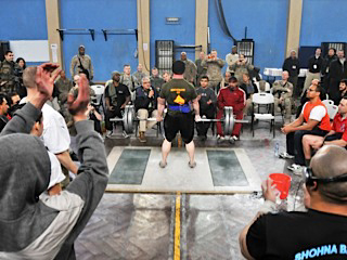 The Afghan and ISAF Friendship Powerlifting Exhibition