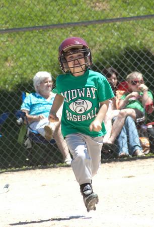 5-08-10 Midway 5-6yr old baseball vs Kingston Red Sox