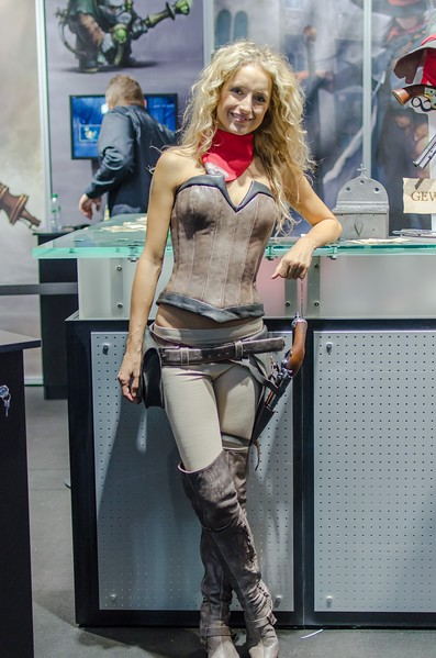 Booth model @ Gamescom 2012