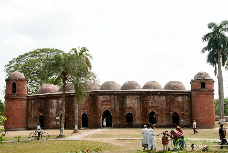 People Around Shait Gumbad Mosque - Bagerhat, Bangladesh