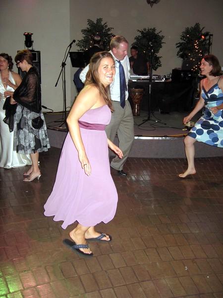 Sarah (bridesmaid) dances