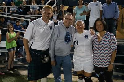 Soccer Senior Night 2015