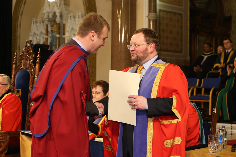 Pictured are Leigh Griffin, Waterford who was conferred a Doctor of Philosophy from Dr. Derek O'Byrne, Registrar of Waterford Institute of Technology (WIT). Picture: Patrick Browne.