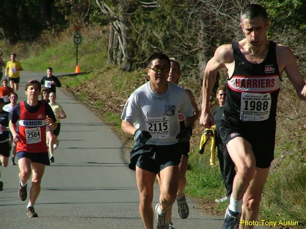 2004 Hatley Castle 8K - Bob Flindell, Henry Thom, Karen Lawless (hidden) and Eugene Leduc
