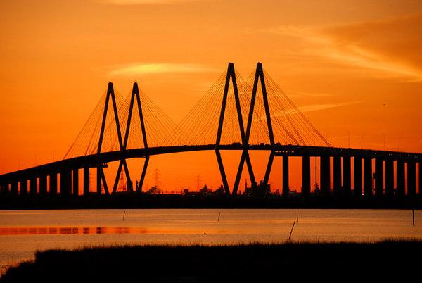 Sunsets Fred Hartman Bridge