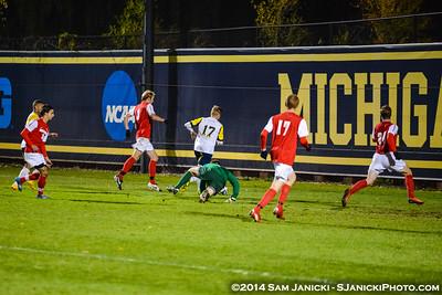 OT from UM Men's Soccer Vs Detroit 10-21-14
