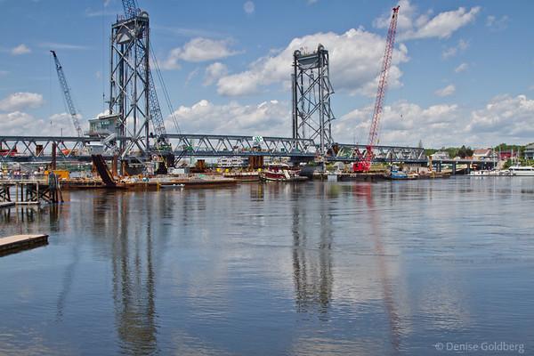 Rebuilding a bridge, Portsmouth - Kittery