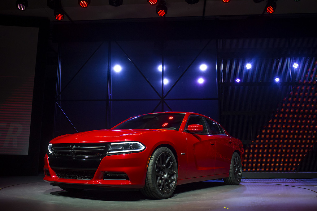 . The 2015 Dodge Charger is unveiled during a media preview of the 2014 New York International Auto Show in New York. The show opens with a sneak preview to the public April 18th and runs through April 27th. (Photo by Eric Thayer/Getty Images)