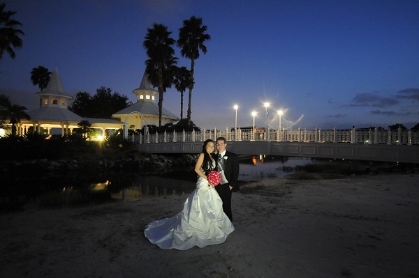 Bride and Groom Photos at Wedding Pavilion