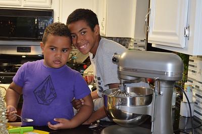 The Kids Making Cookies with Grandma