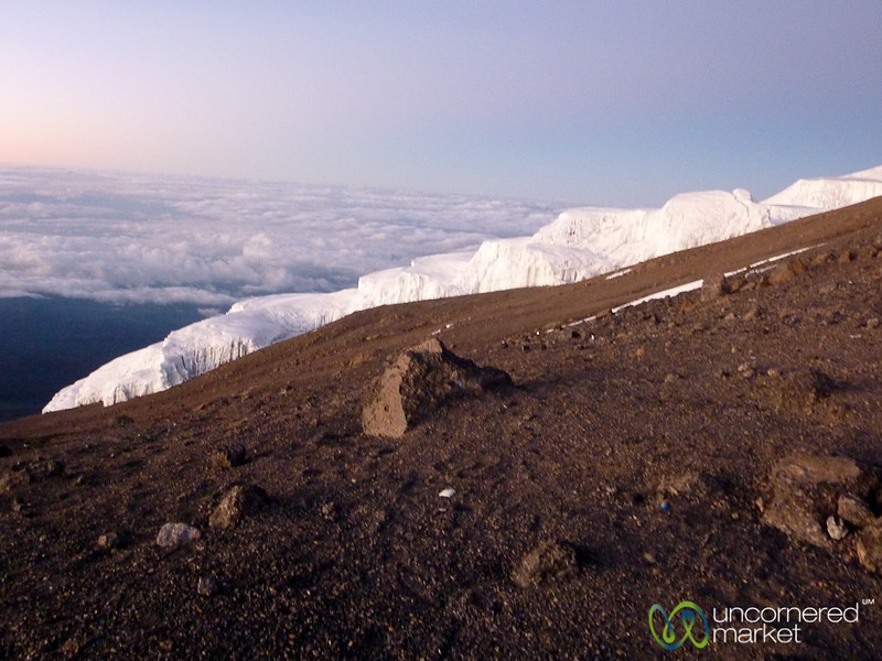 Glaciers at the Top of Mt. Kilimanjaro - Tanzania