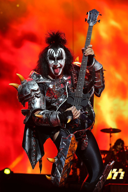 . Gene Simmons of KISS performs live on stage as part of their Monster Tour with Motley Crue and Thin Lizzy at Perth Arena on February 28, 2013 in Perth, Australia.  (Photo by Paul Kane/Getty Images)